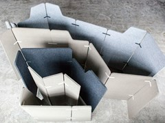 Divisorio ufficio fonoassorbente freestandingECHOCOVE® ECO - ECHOJAZZ