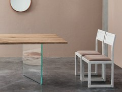 Sedia a slitta in legno ECLETTICA | Sedia a slitta - Eclettica