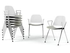Sedia impilabile con braccioliECLIPSE | Sedia con braccioli - DIEMMEBI