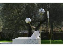 Lampada da terra in ottone e marmo di CalacattaECLISSI | Lampada da terra - HOME DESIGN BY FRANCHI UMBERTO MARMI