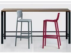 Scrivania / tavolo in legno impiallacciatoECO | Tavolo alto - ELITABLE