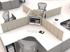 Pannello divisorio da scrivania in fibra di poliestere ECODESK | Pannello divisorio da scrivania - ECOrange