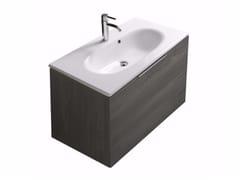 Mobile lavabo sospeso con cassetti ERGO - 7161 - Ergo