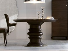 Tavolo da pranzo rotondo in legno EDGAR | Tavolo rotondo -