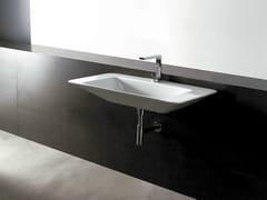 Lavabo rettangolare in ceramica EDGE 100X50 | Lavabo - Edge