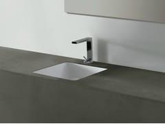 Lavabo da incasso sottopiano quadrato in ceramica EDGE 44X44 | Lavabo da incasso sottopiano - Edge