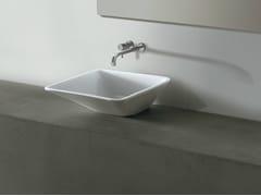 Lavabo quadrato in ceramica EDGE 44X44 | Lavabo - Edge