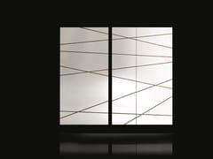 Specchio con struttura in legno e dettagli in ottoneEDGE - H-07