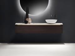 Mobile lavabo singolo sospeso con cassetti EDGE | Mobile lavabo sospeso - Edge