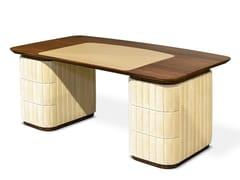 Scrivania rettangolare in legno massello con cassettiEDITH   Scrivania - ESSENTIAL HOME