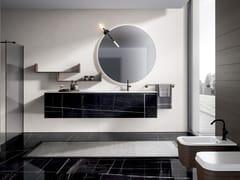 CERAMICA FONDOVALLE, EDONÈ - INFINITO Mobile lavabo sospeso in gres porcellanato