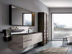 CERAMICA FONDOVALLE, EDONÈ - PORTLAND Mobile lavabo sospeso in gres porcellanato