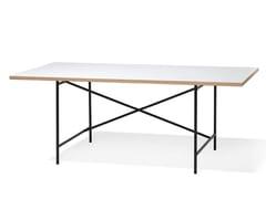 Scrivania ad altezza regolabile rettangolare in acciaio e legnoEIERMANN 1 | Scrivania rettangolare - RICHARD LAMPERT