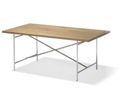 Scrivania ad altezza regolabile rettangolare in acciaio e legnoEIERMANN 2 | Scrivania - RICHARD LAMPERT