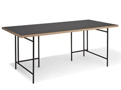 Scrivania rettangolare in acciaio e legnoEIERMANN 3 | Scrivania - RICHARD LAMPERT