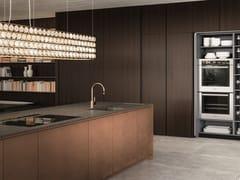 Cucina componibile in acciaio e legno con isolaEL_01 THE LOUNGE - ELMAR