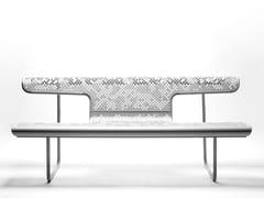 BD Barcelona Design, EL POETA Panchina in acciaio con schienale