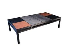 Tavolino basso in rovere con vano contenitore ELEMENTARE | Tavolino con vano contenitore - Elementare