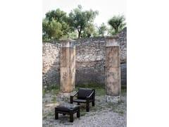 Poggiapiedi in legno massello e pelleELEPHANT | Poggiapiedi - TACCHINI ITALIA FORNITURE
