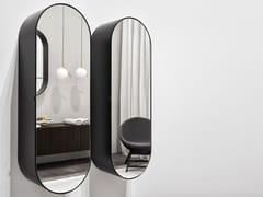 Ceramica Cielo, ELIO Specchio ovale da parete con contenitore