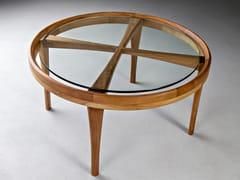 Tavolino rotondo in legno e vetroELISA - HOOKL UND STOOL