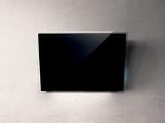 Cappa in vetro a parete con controlli touchELLE - ELICA