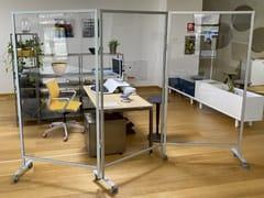Divisorio ufficio mobile in policarbonato su ruoteELLE&ZETA - STUDIO T