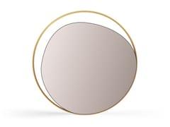 Specchio rotondo da parete con corniceELLIPSE - RED EDITION