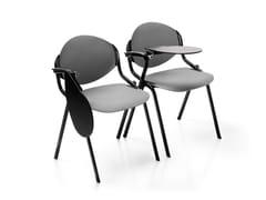 Sedia da conferenza impilabile con ribaltina ELLISSE | Sedia da conferenza in tessuto - Ellisse