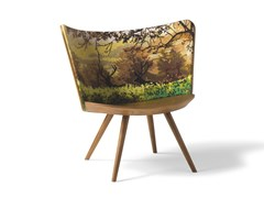 Poltroncina in frassinoEMBROIDERY CHAIR - CAPPELLINI BY CAP DESIGN