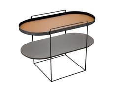Tavolino ovale in metallo con vano contenitore da salottoENEA - FARGO HONGFENG INDUSTRIAL