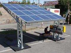 SELVOLINA, ENERGY Pensilina in acciaio con pannelli fotovoltaici