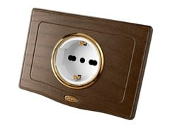 Presa elettrica singola in legnoENGLAND STYLE 44 | Presa elettrica - AVE