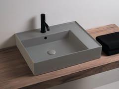 Lavabo da appoggio rettangolare singolo in ceramicaENJOY | Lavabo rettangolare - CERAMICA CIELO