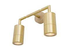 Lampada da parete a LED in ottone per bagnoENNIS DOUBLE | Applique per bagno - MULLAN LIGHTING