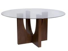 Tavolo da pranzo rotondo per contract ENZO | Tavolo in vetro -