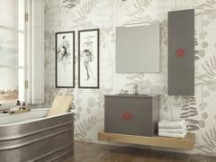 Mobile lavabo singolo sospeso in rovere con cassettiEPOQUE EQ01 - ARTEBA