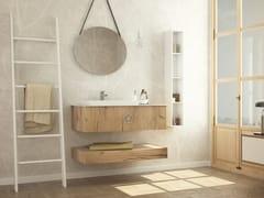 Mobile lavabo singolo sospeso in legno in stile moderno con cassettiEPOQUE EQ03 - ARTEBA