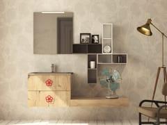 Mobile lavabo singolo sospeso in legno con cassettiEPOQUE EQ04 - ARTEBA