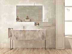 Mobile lavabo in legno in stile moderno con cassetti con porta asciugamani con specchioEPOQUE EQ05 - ARTEBA