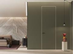 FERREROLEGNO, EQUA ZERO con Telaio concept Porta a battente a filo muro in legno