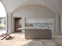 Cucina laccata con isola con top scorrevole ERA - FEBAL CASA BY COLOMBINI GROUP