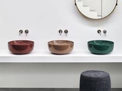Lavabo da appoggio rotondo in ceramicaERA SMALL - CERAMICA CIELO