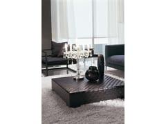 Tavolino quadrato in pelle da salotto ERCOLE TRECY | Tavolino - Ercole