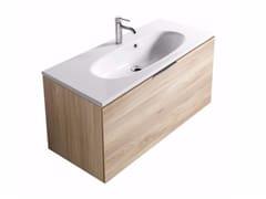 Mobile lavabo sospeso con cassetti ERGO - 7160 - Ergo