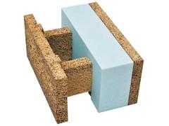 Blocco in legno-cemento con inserti ecologici isolantiERH 38/14 - LEGNOBLOC