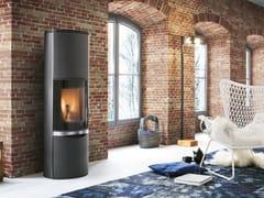 Stufa a legna per riscaldamento aria classe A+ERICA CON ACCUMULO - PALAZZETTI LELIO