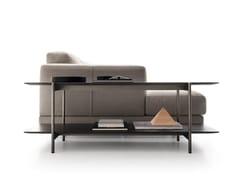 Tavolino rettangolare in legno con portariviste ERYS | Tavolino in legno - Erys