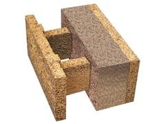 Blocco in legno-cemento con inserti ecologici isolantiESH 38/14 - LEGNOBLOC