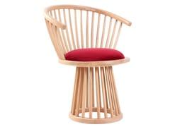 Sedia in legno con cuscino integrato ESKI | Sedia con cuscino integrato -